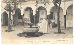 POSTAL    MILIANA  EN AIN DEFLA  -ARGELIA  -COUR DE LA MOSQUÉE  (TRIBUNAL DE LA MEZQUITA) - Egipto