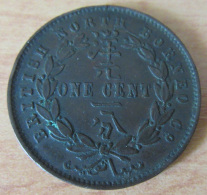 Monnaie Colonies Britanniques - One Cent British North Borneo 1887 H - TTB+ - Colonies