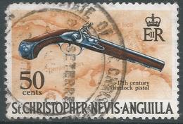 St Kitts-Nevis. 1970 QEII. 50c Used. SG 217 - St.Christopher-Nevis-Anguilla (...-1980)