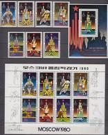 North Korea 05.08.1979 Mi # 1881-87 Bl 61 1881-88 Klbg Moscow Summer Olympics MNH OG - Estate 1980: Mosca
