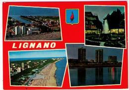 LIGNANO -  SPIAGGIA - PIAZZA DELLA FONTANA - SPIAGGIA VERSO SABBIADORO  (UD) - - Udine