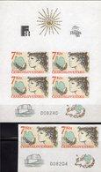 Picasso-Taube PRAGA 1988 CSSR 2822 ZD+Block 83 ** 37€ CEPT Taube Hoja Blocchi Ss Blocs M/s Sheets Bf CEPT-Mitläufer - Columbiformes