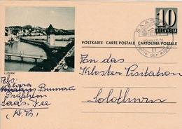 Bild-Postkarte  Luzern Mit Stempel SAAS FEE Perle Der Alpen Am 28.XII.1963 - Entiers Postaux