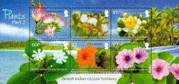 British Indian Ocean Territory - BIOT - 2018 - Plants, Part II - Mint Souvenir Sheet - Territoire Britannique De L'Océan Indien