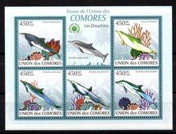 Serie De Nº 2428/32  Comores. - Delfines