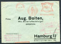 1936 Ivanovice Na Hane Franking Machine Cover - Hamburg. Beer Alcohol Brewery - Czechoslovakia