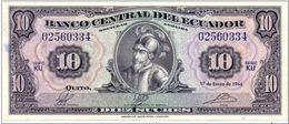 Ecuador1966,10 Sucres ( VF ). - Ecuador