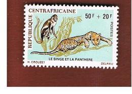 REPUBBLICA CENTRAFRICANA (CENTRAL AFRICAN REPUBLIC) - SG 233 - 1971 MONKEY & LEOPARD - MINT** - Repubblica Centroafricana