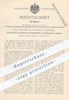 Original Patent - Ad. Charlet & Pierret , Brüssel , 1892 , Formverfahren F. Achsbüchsen Mit Hartguss | Gusseisen | Achse - Historical Documents