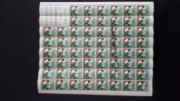 TRIESTE A 1952 FIERA TRIESTE   INTERO  CON PIEGA MNH** LUSSO   EURO 300 - Mint/hinged