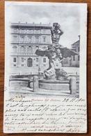 FONTANA DEL TRITONE CARTOLINA VIAGGIATA IN FRANCIA  25/11/1900 - Como