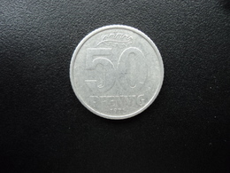 RÉPUBLIQUE  DÉMOCRATIQUE ALLEMANDE : 50 PFENNIG   1971 A   KM 12.2     SUP - [ 6] 1949-1990 : GDR - German Dem. Rep.