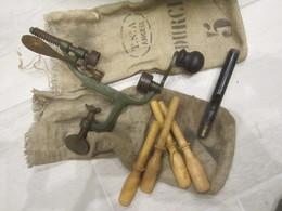 Rare Lot Outil Rechargement Recalibreur Sertisseur Douille De Chasse Cal:12mm Emporte Pièce 12mm - Armi Da Collezione