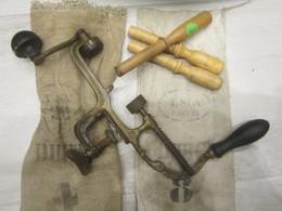 Rare Lot Outil Rechargement Recalibreur Sertisseur Douille De Chasse Cal:14mm - Armi Da Collezione