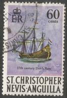 St Kitts-Nevis. 1970 QEII. 60c Used. SG 218 - St.Christopher-Nevis-Anguilla (...-1980)