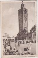 Maroc :  CASABLANCA :  Arrivée  Cérémonie Du Sultan Pour La  Prière A La Grande  Mosquée   1936 - Casablanca