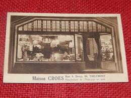 """TIENEN -  TIRLEMONT  -  """" Maison Croes """" Manufacture De L'abat-jour En Soie, Rue A. Dony 30 - Tienen"""