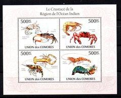 Serie En Hb  De Comores 2010. Crustaceos - Crustacés