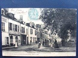 36 ,saint Gaultier ,la Place Du Champ De Foire En 1906........petite Marque Bas Droite,peu Visible - France