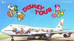 Télécarte  * DISNEY * Japon (110-161053) DISNEY ON TOUR  * JAL (6420) * JAPAN PHONECARD *  AIRPLANE - Disney
