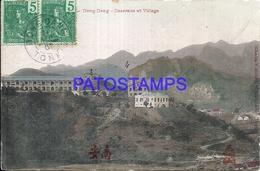 95206 INDO CHINE VIETNAM DONG DANG VIEW VILLAGE CIRCULATED TO FRANCE POSTAL POSTCARD - China