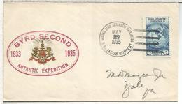 ESTADOS UNIDOS USA 1935 CC BYRD SECOND ANTARCTIC EXPEDITION ANTARTIDA POLO SUR - Expediciones Antárticas