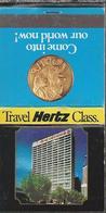 Lucifermapje. TRAVEL HERTZ CLASS. NOAHS GROUP OF HOTELS. Matchbook. Pochette D'Allumettes, Luciferdoos. - Boites D'allumettes