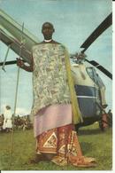 Ruanda-Urundi - Voyage Du Roi Au Congo été 1955 - Hélicoptère  (2 Scans) - Ruanda-Urundi