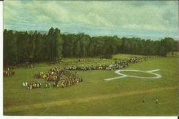Ruanda-Urundi - Voyage Du Roi Au Congo été 1955 - Un Hélicoptère Survole Le Ruanda-Urundi  (2 Scans) - Ruanda-Urundi