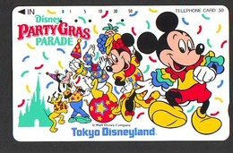 Télécarte Japon /110-106593 - DISNEY- Mickey Minnie Donald PARTY GRAS PARADE   (6425) JAPAN PHONECARD * TK - Disney