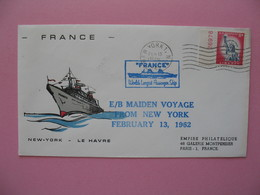 """Lettre New-York  - Le Havre 1962  """" Le Havre Ville Moderne Son Port Et Ses Paquebots """" - New-York - Siège De L'ONU"""