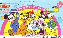Télécarte Ancienne FRONT BAR Japon /110-23007 - DISNEY - MICKEY MINNIE DONALD DAISY  BALKEN  (6428) Japan Phonecard - Disney