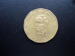 RÉPUBLIQUE  DOMINICAINE : 1 PESO   1997   KM 80.3 *     TTB - Dominicaine