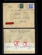 1942 - German Reich Cover - From Wien To Rüti (Zürich) [B03_075] - Lettres