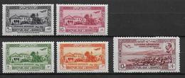 GRAND-LIBAN - POSTE AERIENNE YVERT N°75/79 * CHARNIERE LEGERE - COTE = 25 EUR. - Great Lebanon (1924-1945)