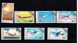 Mongolie 1984 Mi Nr 1626 - 1632 Airplane, Compleet - Mongolië