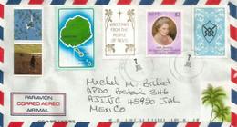 Belle Lettre De Charlestown. ILE NEVIS, Adressée Au Mexique, Avec Timbre á Date Arrivée Au Verso - St.Kitts-et-Nevis ( 1983-...)