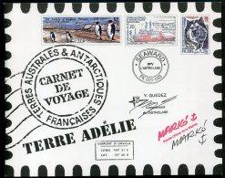 7574  Terres Australes Et Antarctiques Françaises  Carnet De Voyage   C 308  (n°308/21)    2001      SUPERBE - Booklets