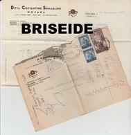 CARTA INTESTATA CON BUSTA ESPRESSO DITTA COSTANTINO SOMAGLINO NOVARA DESTINAZIONE TRIESTE 1949 - Italia