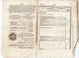 Document De L' Exécution De La Loi Du 10 Mai 1838 -  Louis Philippe  - De Maceau - N. Martin   (107647) - Décrets & Lois