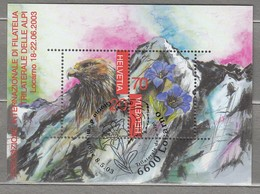BIRDS SWITZERLAND 2003 Golden Eagle Mi Bl 33 Used (o) #22755 - Birds