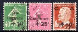 FRANCE - N° 253/55 Obl  (1929) Caisse D'amortissement - Used Stamps