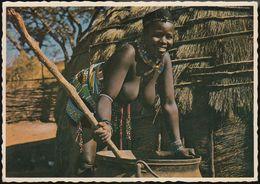 South Africa - African Woman At Cooking Pot - Nude - Südafrika