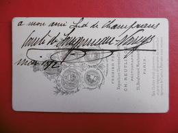 CDV COMTE DE ?  PHOTO REUTLINGER A PARIS 1872 - Persone Identificate