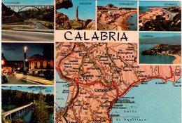 Calabria. Cartina E Multivisione. VG. - Carte Geografiche