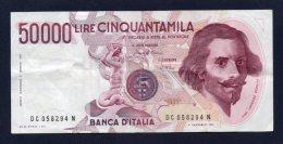 50000 Lire Bernini 6-2-1984 (circolata) - [ 2] 1946-… : Repubblica