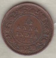 Inde  1/12 Anna 1933  , George V .Bronze .KM# 509 - India