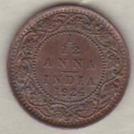 Inde  1/12 Anna 1924  , George V .Bronze .KM# 509 - India