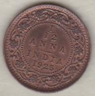 Inde  1/12 Anna 1925  , George V .Bronze .KM# 509 - India