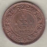 Inde  1/12 Anna 1923  , George V .Bronze .KM# 509 - Inde